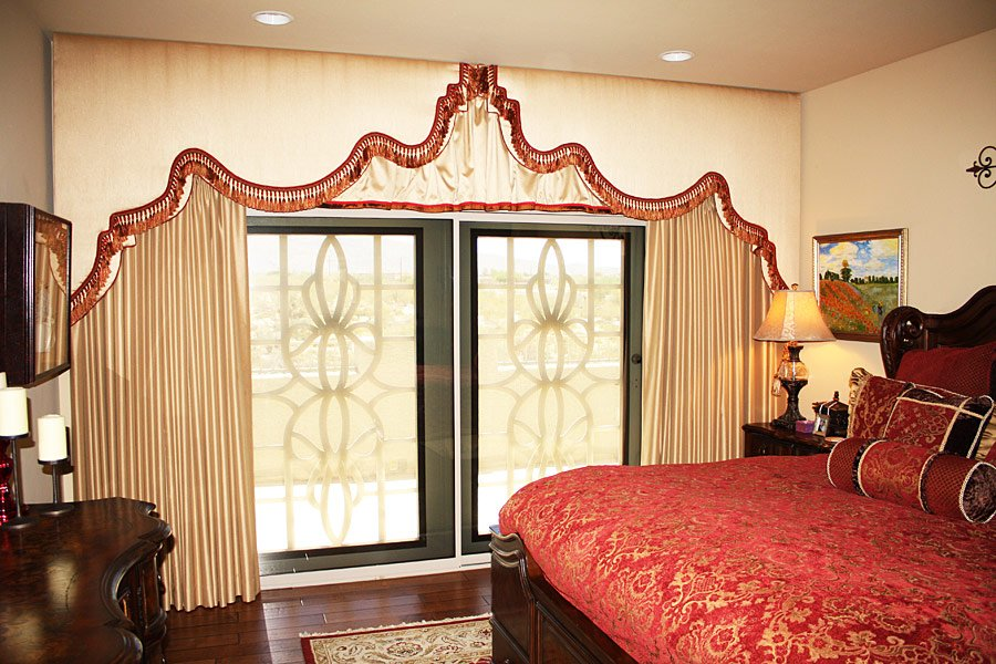 Cave Creek upholstered cornice boards